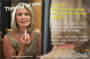 Fun Tip about writing on mirrors