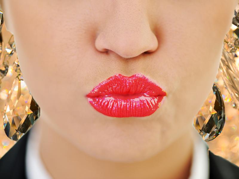 Plump sexy lips