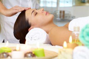 Enjoying a facial massage