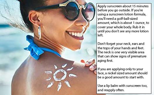 Apply Sunscreen Properly