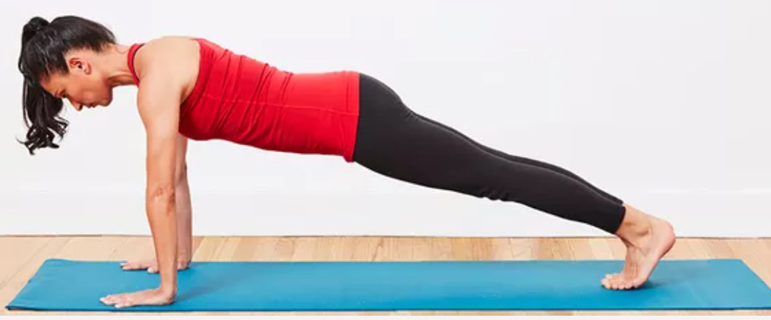 Plank exercises for posture and flatter tummy